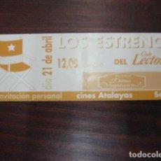 Cine: LA DAMA Y EL VAGABUNDO - FOLLETO MANO INVITACION PREESTRENO WALT DISNEY. Lote 209018850