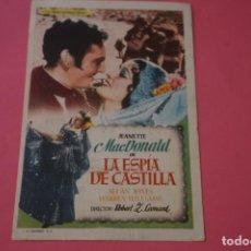 Foglietti di film di film antichi di cinema: FOLLETO DE MANO PROGRAMA DE CINE LA ESPIA DE CASTILLA LOTE 50 MIRAR FOTOS. Lote 209064156