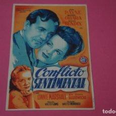 Foglietti di film di film antichi di cinema: FOLLETO DE MANO PROGRAMA DE CINE CONFLICTO SENTIMENTAL LOTE 53 MIRAR FOTOS. Lote 209083776