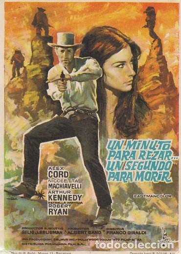 UN MINUTO PARA REZAR UN SEGUNDO PARA MORIR (Cine - Folletos de Mano - Westerns)