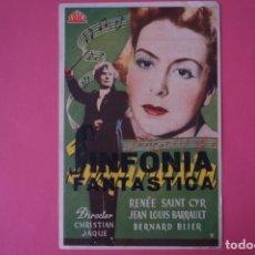 Foglietti di film di film antichi di cinema: FOLLETO DE MANO PROGRAMA DE CINE SINFONIA FANTASTICA LOTE 56 MIRAR FOTOS. Lote 209132332