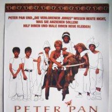 Cine: PETER PAN, CON ELSIE RACITE. EN CARTULINA 29,5 X 42 CMS. 2003.. Lote 209166670