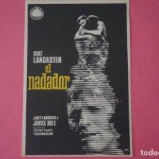 Foglietti di film di film antichi di cinema: FOLLETO DE MANO PROGRAMA DE CINE EL NADADOR SIN PUBLICIDAD LOTE 57. Lote 209241887