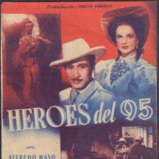 Flyers Publicitaires de films Anciens: PROGRAMA SENCILLO DE HÉROES DEL 95 (1947) - TEATRO CALDERÓN DE ALCOY. Lote 209298781