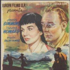 Folhetos de mão de filmes antigos de cinema: PROGRAMA SENCILLO DE TRÁGICA OBSESIÓN (1950) - TEATRO CALDERÓN DE ALCOY. Lote 209299060