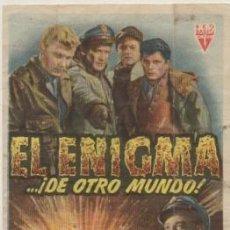 Cine: PROGRAMA DE CINE: EL ENIGMA…DE OTRO MUNDO PC-4553. Lote 209324471