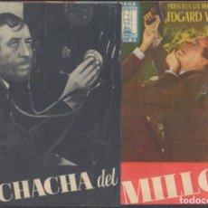 Cine: PROGRAMA DOBLE DE LA MUCHACHA DEL MILLÓN (1942) - TEATRO CALDERÓN DE ALCOY. Lote 209366740