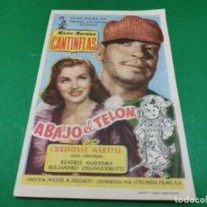 Cine: PROGRAMA DE MANO ORIG - ABAJO EL TELON - CINE DE ZARAGOZA. Lote 209367571