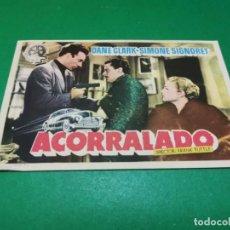 Cine: PROGRAMA DE MANO ORIG - ACORRALADO - CINE BOSQUE. Lote 209367680