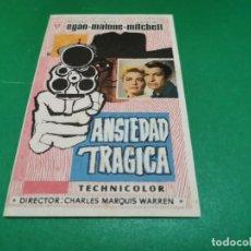 Cine: PROGRAMA DE MANO ORIG - ANSIEDAD TRÁGICA - CINE DE FIGUERAS. Lote 209368010