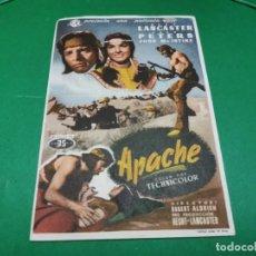 Cine: PROGRAMA DE MANO ORIG - APACHE - CINE MONUMENTAL. Lote 209368407