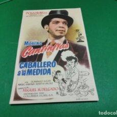 Cine: PROGRAMA DE MANO ORIG - CABALLERO A LA MEDIDA - CINE DE ZARAGOZA. Lote 209371133