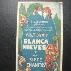 Cine: BLANCA NIEVES Y LOS SIETE ENANITOS, DISNEY, COLISEO ESPAÑA. Lote 209415908