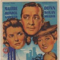 Foglietti di film di film antichi di cinema: PROGRAMA DE CINE: LAZOS HUMANOS. SIN PUBLICIDAD PC-4570. Lote 209415936