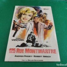 Cine: PROGRAMA DE MANO ORIG - 125 RUE MONTMARTRE - CINE DE MERIDA. Lote 209601678