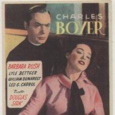 Folhetos de mão de filmes antigos de cinema: PROGRAMA DE CINE: LA PRIMERA LEGION. SIN PUBLICIDAD PC-4604. Lote 231126660