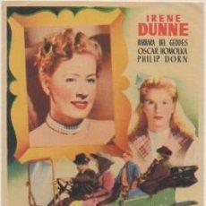 Foglietti di film di film antichi di cinema: PROGRAMA DE CINE: NUNCA LA OLVIDARE. SIN PUBLICIDAD CP-4610. Lote 209666068