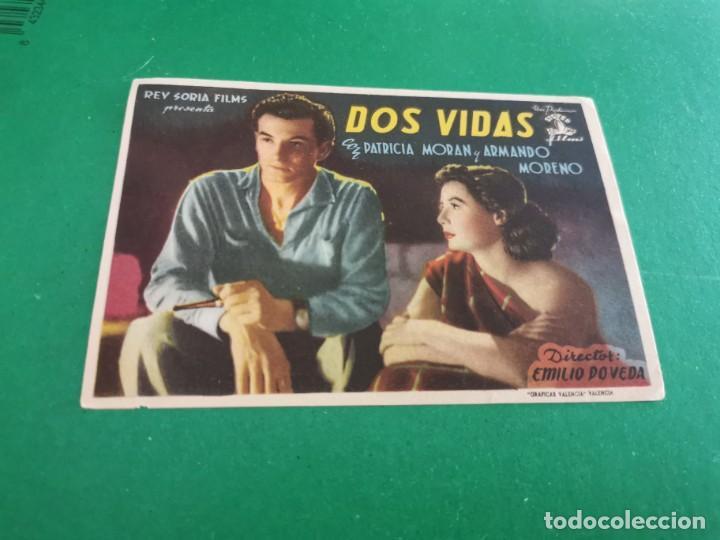 PROGRAMA DE MANO ORIG - DOS VIDAS - CINE MINGO (Cine - Folletos de Mano - Clásico Español)