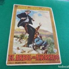 Cine: PROGRAMA DE MANO ORIG - EL ÁRBOL DEL AHORCADO - CINE DE MATARO. Lote 209695528