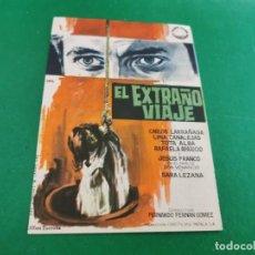 Cine: PROGRAMA DE MANO ORIG - EL EXTRAÑO VIAJE- CINE DE SEVILLA. Lote 209700210
