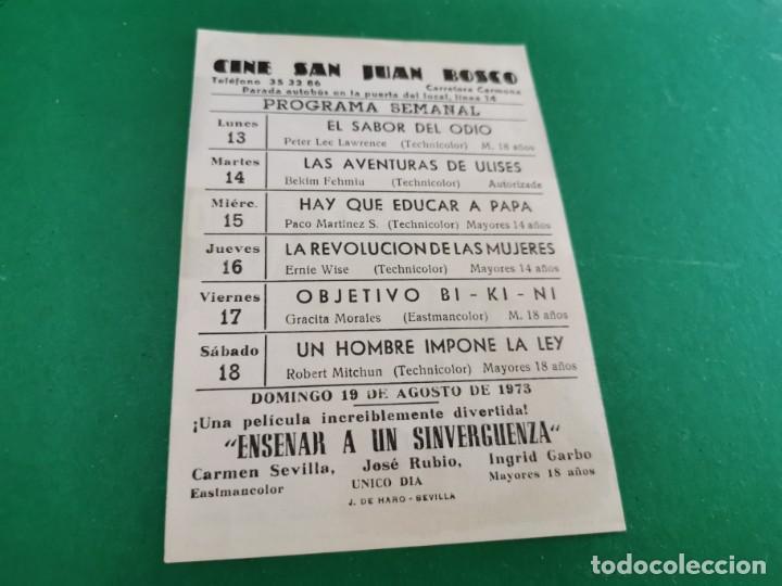 Cine: PROGRAMA DE MANO ORIG - EL EXTRAÑO VIAJE- CINE DE SEVILLA - Foto 2 - 209700210