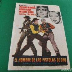 Cine: PROGRAMA DE MANO ORIG - EL HOMBRE DE LAS PISTOLAS DE ORO - CINE DE ZARAGOZA. Lote 209701321