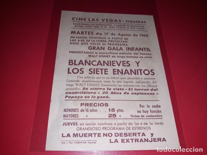 Cine: Blancanieves y los 7 Enanitos de Walt Disney Publicidad al dorso. Año 1937 - Foto 2 - 209769592