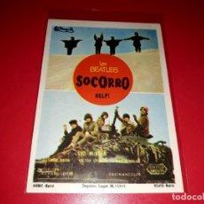 Foglietti di film di film antichi di cinema: SOCORRO HELP ! CON LOS BEATLES SIN PUBLICIDAD AÑO 1965. Lote 209769807