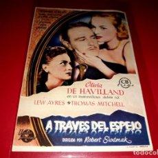 Cine: A TRAVÉS DEL ESPEJO CON OLIVIA DE HAVILLAND PUBLICIDAD AL DORSO AÑO 1946. Lote 209774801