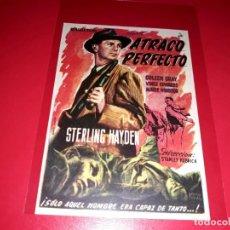 Cine: ATRACO PERFECTO DE STANLEY KUBRICK PUBLICIDAD AL DORSO AÑO 1956. Lote 209790162