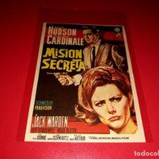 Cine: MISION SECRETA CON ROCK HUDSON Y CLAUDIA CARDINALE PUBLICIDAD AL DORSO AÑO 1965. Lote 209801225