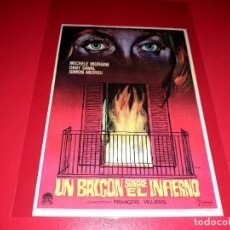Cine: UN BALCON SOBRE EL INFIERNO PUBLICIDAD AL DORSO AÑO 1964. Lote 209801453