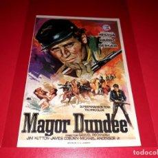 Cine: MAYOR DUNDEE CON CHARLTON HESTON Y RICHARD HARRIS PUBLICIDAD AL DORSO AÑO 1965. Lote 209802115
