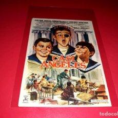 Cine: CASI ANGELES DE WALT DISNEY PUBLICIDAD AL DORSO. AÑO 1962. Lote 209853702