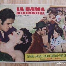 Cine: FOLLETO PROGRAMA MANO PELÍCULA LA DAMA DE LA FRONTERA - YVONNE DE CARLO - ROD CAMERON - ANDY DEVINE. Lote 209859686