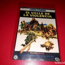 Cine: EL VALLE DE LA VIOLENCIA CON JAMES STEWART PUBLICIDAD AL DORSO. AÑO 1965. Lote 209925723
