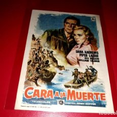 Cine: CARA A LA MUERTE PUBLICIDAD AL DORSO. AÑO 1955. Lote 209933582
