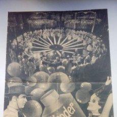 Cine: FOLLETO DE CINE WONDER BAR CON DOLORES DEL RIO PUBLICIDAD CINE IDEAL 1935. Lote 209943717