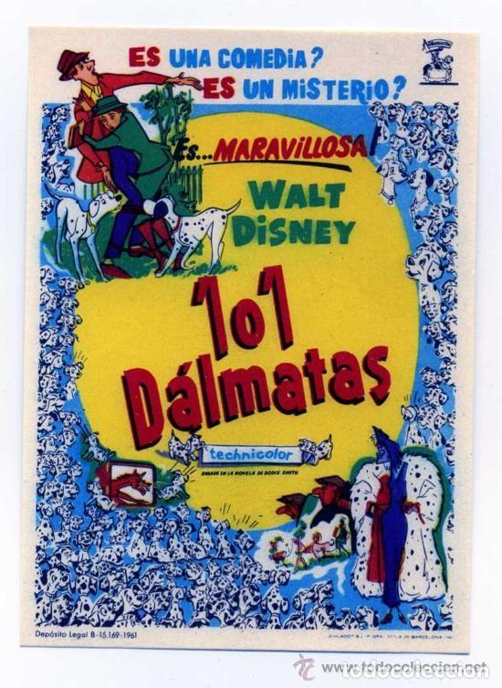 101 DALMATAS (Cine - Folletos de Mano - Infantil)