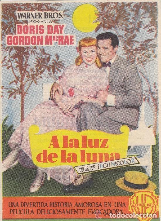 A LA LUZ DE LA LUNA (Cine - Folletos de Mano - Comedia)