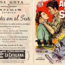 Cine: FOLLETO DE MANO ALERTA EN EL SUR .CINE GOYA ZARAGOZA. Lote 210011305