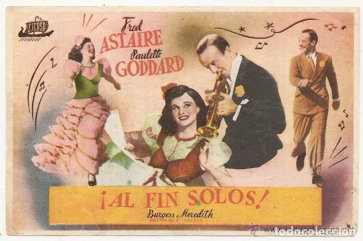 AL FIN SOLOS (Cine - Folletos de Mano - Musicales)