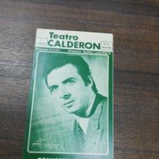 Flyers Publicitaires de films Anciens: TEATRO CALDERON. PRINCIPE GITANO. 1972/73. CARMEN MORELL. LUIS LUCENA.. Lote 210094803