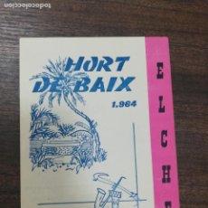 Foglietti di film di film antichi di cinema: HURT DE BAIX. ELCHE 1964.. Lote 210102236