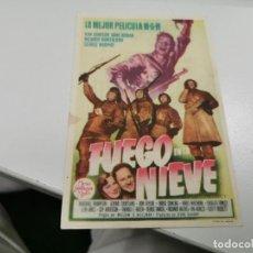 Foglietti di film di film antichi di cinema: PROGRAMA DE MANO ORIG - FUEGO EN LA NIEVE- CINE DE PALMA DE MALLORCA. Lote 210104775