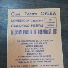 Cine: GRAN TEATRO OPERA. LOS MILLONARIOS DE LA CANCION. HERMANOS CALATRAVA. VICTOR BALAAGUER.. Lote 210167327
