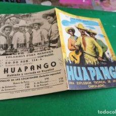 Cine: PROGRAMA DE MANO ORIG DOBLE - HUAPANGO - CINE DE CIUDAD REAL. Lote 210194945