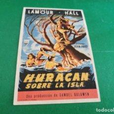 Cine: PROGRAMA DE MANO ORIG - HURACAN SOBRE LA ISLA - CINE DE MURCIA. Lote 210195315