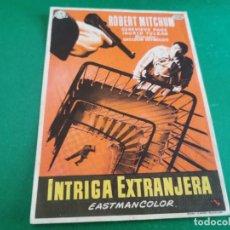 Flyers Publicitaires de films Anciens: PROGRAMA DE MANO ORIG - INTRIGA EXTRANJERA - CINE DE SALLENT. Lote 210196210