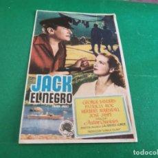 Cine: PROGRAMA DE MANO ORIG - JACK EL NEGRO - CINE DE ALBACETE. Lote 210196735